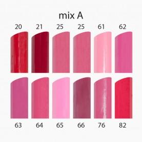 LS032 микс A (матовый) губная помада ТОНКАЯ ВЫСОКАЯ прозрачный колпачок 1,7g. (уп 12шт) (720 шт/кор)