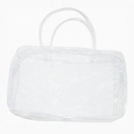 CB 01-6 косметичка банная 24*15*9см прямоугольная прозрачная с ручками 36 гр.(10шт/уп 1000шт/кор) слюда
