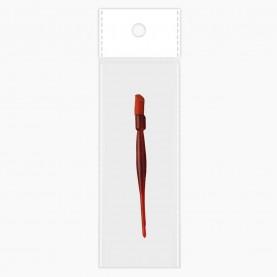WDP02 ОРР+стикер шк по 1 штуке палочка для кутикулы пластик с резинкой 9,5 см 2 гр.(10 шт./уп)