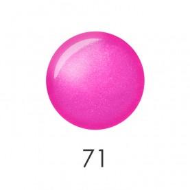 NP001 71 лак для ногтей 12 мл(яркий розовый перламутр) 12 шт/кор 480шт
