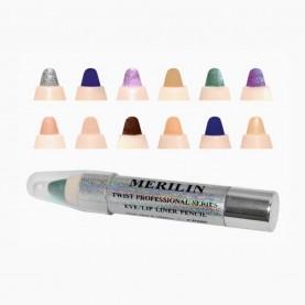 CP009 MIX карандаш для глаз, губ -сверкающая голография- (12 шт/уп 1728 шт/кор) 10,5 см