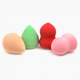 SPN10 спонж резин-софт, купол-пика микс 5,5*4 см для макияжа и умывания 10гр. (50 шт/уп 600/кор)