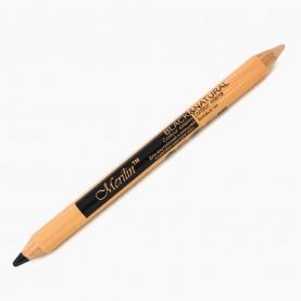 CP010 (черный+натуральный) 2-ной карандаш-корректор для внутренней и внешней подводки глаз с точилкой (12 шт/уп 1728 шт/кор) 18,5 см / 2 гр