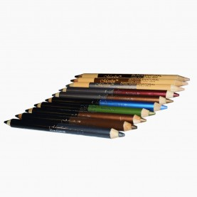 CP010 (черный+бронзовый) 2-ной карандаш для внутренней и внешней подводки глаз с точилкой (12 шт/уп 1728 шт/кор) 18,5 см / 2 гр