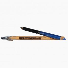 CP010 (черный+синий перламутр) 2-ной карандаш для внутренней и внешней подводки глаз с точилкой (12 шт/уп 1728 шт/кор) 18,5 см / 2 гр