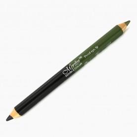 CP010 (черный+зеленый перламутр) 2-ной карандаш для внутренней и внешней подводки глаз с точилкой (12 шт/уп 1728 шт/кор) 18,5 см / 2 гр