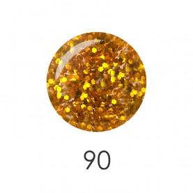 NP001 90_ лак для ногтей 12 мл(прозрачный с золотыми гранулами) 12 шт/кор 480шт