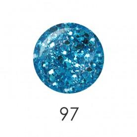NP001 97_ лак для ногтей 12 мл(прозрачный с голубыми гранулами) 12 шт/кор 480шт