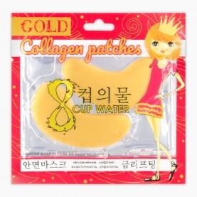 ПАТЧИ PTH02 Gold collagen patches Коллагеновые патчи для глаз /БИО-ГОЛД КРАСНЫЙ пакет 8 гр/(12шт/уп 1200 шт/кор) ЦЕНА 1 ШТ