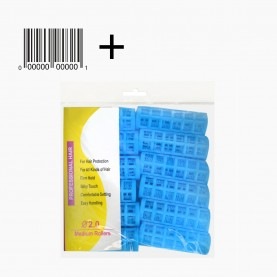 ROL 3 БИГУДИ 12 шт в ОРР+стикер шк пластик с зажимом D-2см/длина -7 см цветные 67гр. (12 наб(12бигуди)/уп-240/кор) ЦЕНА за набор из 12 бигуди