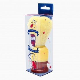 """SHBR101 + XC-SH-коробочка """"Shave, bro"""" + стикер шк кисть для нанесения на лицо жел обод премиум ручка 11,5 см 31 гр. ( 6 шт/уп 600/кор)"""