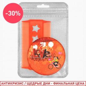 294 набор: ZIP silver10*15 - расческа CMB006/зеркало одиночное MIR009 29гр (1 шт/уп )