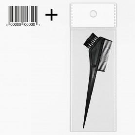 кисть PHB02 OPP + стикер шк кисть для окраски волос с расческой: кисть3,5 см\расч6,5 см длин 20см 10гр.(12 шт/уп -3600шт/кор)