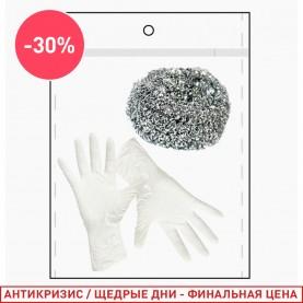 198 набор: перчатки/губка (1 шт/уп)