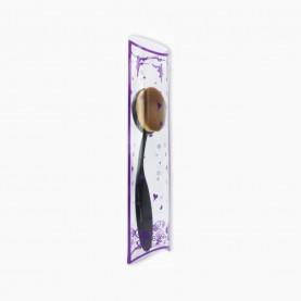 BR500-02 кисть для макияжа 15,5 см/тональная основа/ ручка черн пласт, плотно набитый ворс 4,5*3,5см, в PVC-коробочке (1шт/уп) 40 гр