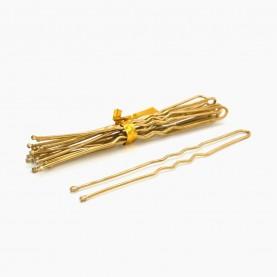 HSP04 Шпильки для волос 6,5 см, цвет ЗОЛОТО в рулоне 10 (8-11 шт) шт, цена за РУЛОН 6 гр. (50 рул/уп 2500/кор)