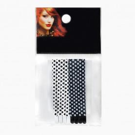 HCL15 Невидимки для волос в ОРР на БЛИСТЕРЕ 48 шт, дл 6 см МИКС:черно-бел горошек/ цена за БЛИСТЕР (6 пак по 8 невидимок) 123 гр (48 шт=6 ОРР)