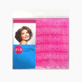 ROL 5 БИГУДИ 12 шт в ОРР пластик с зажимом D-2 см/длина -6,5 см цветные 48 гр. (12 наб(12 бигуди)/уп-240/кор) ЦЕНА за набор из 12 бигуди
