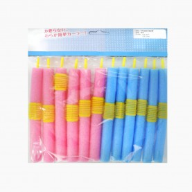 ROL103 БИГУДИ мягкие ПАПИЛЬОТКИ на резине 12 шт в ОРР длина -16 см МИКС цветные 28 гр. (12 наб(12 бигуди)/уп-240/кор) ЦЕНА за набор из 12 бигуди
