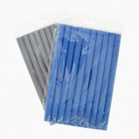 ROL105 БИГУДИ-бумеранг мягкие 10 шт D-1,6см длина -24 см МИКС цветные 87 гр. (12 наб(10 бигуди)/уп-360/кор) ЦЕНА за набор из 10 бигуди