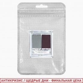 2061 ZIP 8*13 silver микс - тени для век двойные 24 цвета 12 гр.(24шт\уп) (432шт/кор)