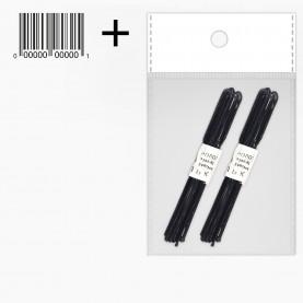 HSP01-20 ОРР+стикер шк Шпильки для волос 6 см, цвет ЧЕРНЫЙ 20 шт, цена за набор 17 гр (25уп /уп ZIP 15*20)