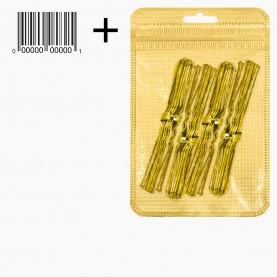 HSP04-40 ZIP+стикер шк Шпильки для волос 6,5 см, цвет ЗОЛОТО в наборе 40 шт, цена за набор 28гр (10 наб/уп ZIP 15*20)