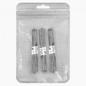 HSP03-30 ZIP+стикер шк Шпильки для волос 7 см, цвет СТАЛЬНОЙ в наборе 30 шт, цена за набор 23гр (10 наб/уп ZIP 15*20)