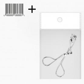 зажим CRL07 ОРР+стикер шк зажим для завивки ресниц серебро 10*,*8,5 17гр (10 шт/уп ZIP 17*25 , 1200шт/кор) ручки мет