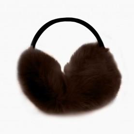 EAR01 Наушники КОРИЧНЕВЫЙ на голову искусственный мех d ушек= 11 см d ободка =12 см 53 гр.(480 шт/кор)