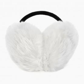 EAR02 Наушники БЕЛЫЙ на голову искусственный мех d ушек = 13 см d ободка = 13 см 84 гр. (480 шт/кор)