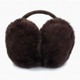 EAR02 Наушники КОРИЧНЕВЫЙ на голову искусственный мех d ушек = 13 см d ободка = 13 см 84 гр. (480 шт/кор)