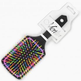CMB111 CX-KEPN-держатель+шк расческа массажная микс, квадратная подушка, цветные зубчики волна 24*8cm 87гр (уп/6шт ZIP 25*35 к/240шт)
