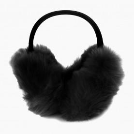 EАR05 Наушники ЧЕРНЫЙ на голову складывающиеся искусственный мех d ушек= 16 см d ободка= 15см 95 гр.(240 шт/кор)