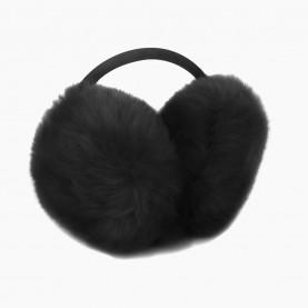 EАR02 Наушники ЧЕРНЫЙ на голову искусственный мех d ушек = 13 см d ободка = 13 см 84 гр. (480 шт/кор)