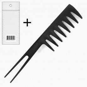 CMB413 +OPP стикер ш/к расческа (689) с острой вилка- ручкой, ПРОФИ 18,5*3,8 см 11 гр. (уп/12 шт ZIP 17*25 кор/1200шт)
