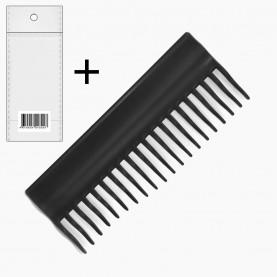 CMB416 ОРР+стикер шк расческа (1345) гребень прямой, ПРОФИ зубцы 6,5 волна дл 15*6 см 26 гр. (уп/12 шт кор/1200шт)