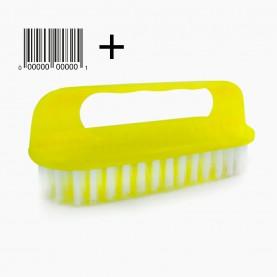 SHB12 +стикер ш/к щетка хозяйствен утюжок ручка- скоба длинная 14*6 см выс щетины 2,5 см 36 гр в ОРР-1шт(12 шт/уп ZIP 25*35 /240 кор)