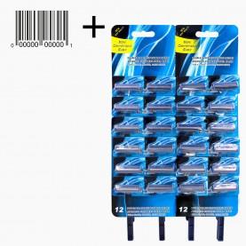 SHV16 MAX Одноразовый бритвенный станок 2 лезвия синий на картоне блистер 24 шт 5,1 гр. (24/уп 1728/кор) цена за шт