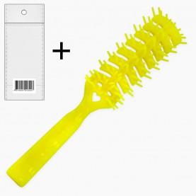 CMB016 расческа 885 (ОРР+стикер шк расческа для фена пластик с ручкой 19*3 см (разные цвета) 24 гр.) (уп ZIP 25*35/12 шт кор/600шт)