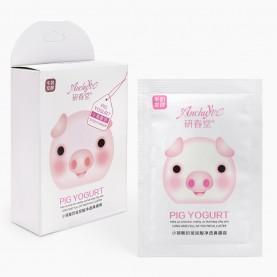 MSKNS02 пиги Anchuyt. White pig yougurt. Кремообразная маска для носа. Белая коробочка 8 гр цена за 1 шт (10шт/уп 1440шт/кор)