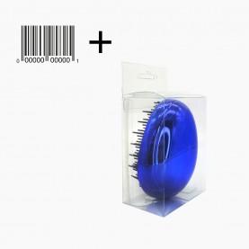 CMB506 PVC+стикер шк щетка пластик гальваника зубцы-пластик серия ЯПОНИЯ 7*9*4 см в коробоч 62 гр. (6шт/уп кор/240шт)