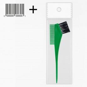 кисть PHB05 ОРР+стикер шк для окраски волос цветная 105 длина 20 см с расч 6,5 см\кисть 3,5 см, 9 гр. (12шт/уп-1200шт/кор)