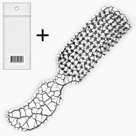 CMB205+стикер ш/к расческа - щетка продолговат с ручкой кракелюр изогнут 14*3*2,5 см. 34 гр ОРР (12 шт/уп-432шт/кор)