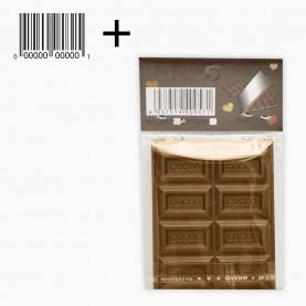 MIR16 + стикер ш/к зеркало прямоугольное кейс плитка ШОКОЛАДа (8 долек) 5*7 см в ОРР на кипине 21 гр. (12 шт/zip 15*20 - 960/кор)