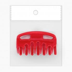 HP408 OPP8*10+стикер ш/к заколка-крабик разноцв МИКС для волос 6*3см 7 зубчика 7 гр.(12/уп ZIP 17*25 2400/кор)