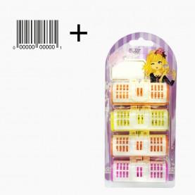 ROL 7 БИГУДИ 4 шт (на БЛИСТЕРЕ+ стикер шк пластик с фиксатором D-2,5см/дл7см цвет 52 гр.)(12 наб(4 бигуди)/уп-240/кор) ЦЕНА за набор из 4 бигуди