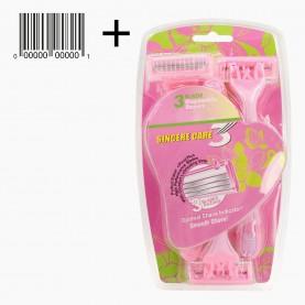 SHV18-1 MAX Sincere Care Однораз бритвенный станок 3 лезв жен сирень -пинк 6 шт блистер 91 гр. (6шт /уп 864/кор) цена за 1 шт