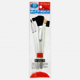 SB004 набор кистей для макияжа 5 предметов 6*17 см в ОРР 10 см 9 гр.(24шт/уп 1440/кор)