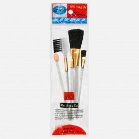 SB005 набор кистей для макияжа 5 предметов 6*23 см в OPP 15,5 см 14 гр. (24шт/уп 960/кор)